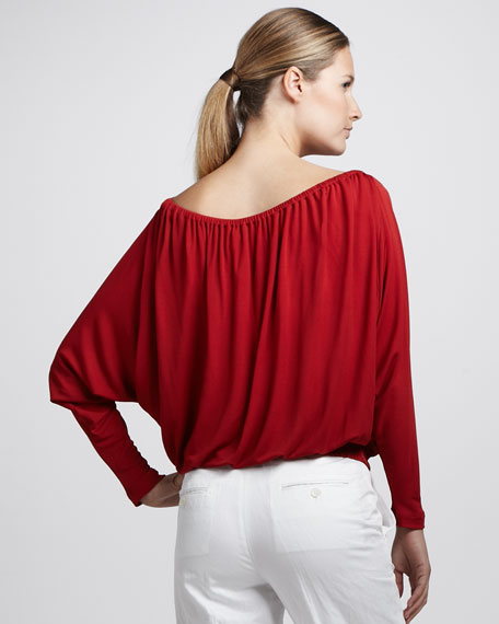 Off-The-Shoulder Jersey Top