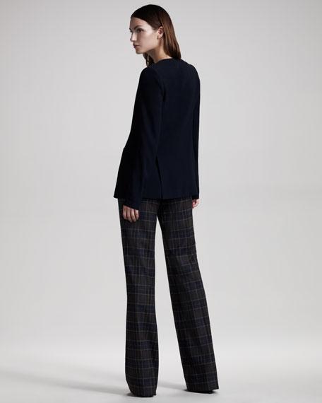 Plaid Wide-Leg Pants