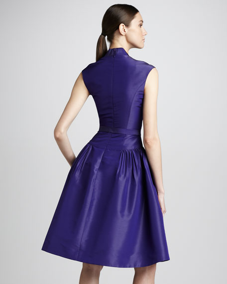 Full-Skirt Taffeta Dress