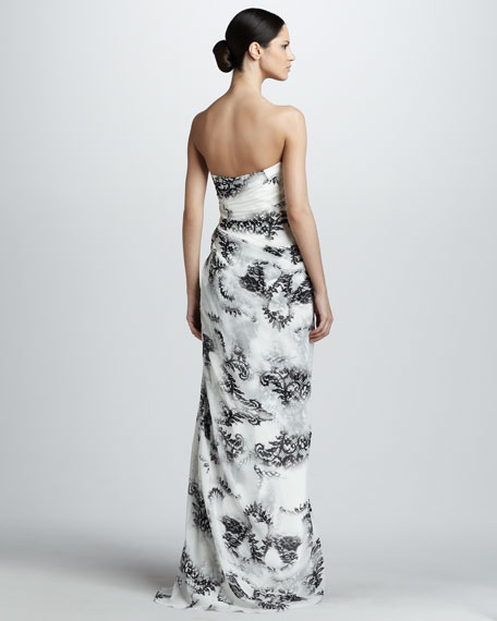 Strapless Side-Draped Gown