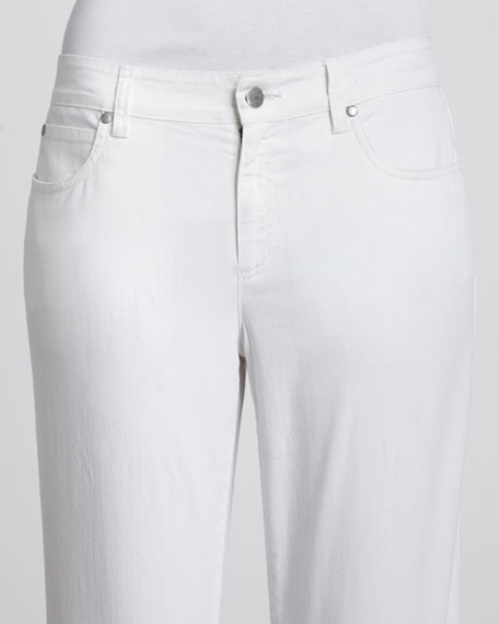 Wide-Leg Stretch Jeans