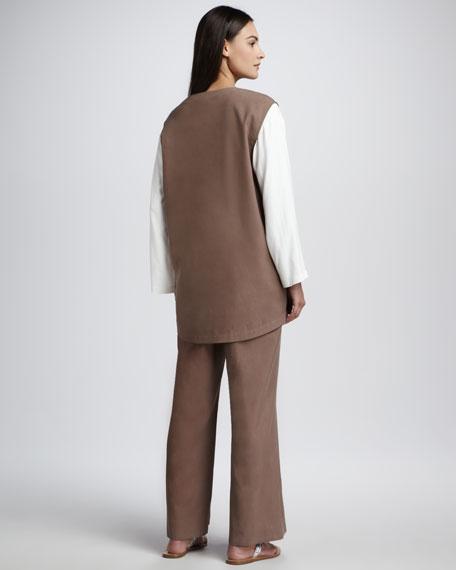 Long Silk Vest, Women's