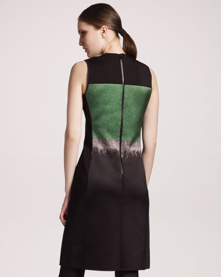 Mohair Printed Satin Dress