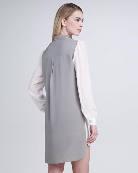 Tie-Neck Tunic Dress