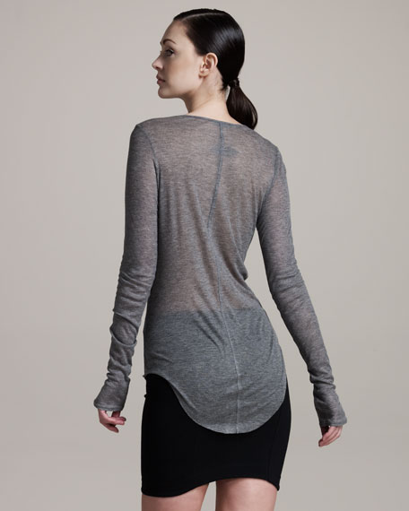 Voltage Long-Sleeve Sheer Tee