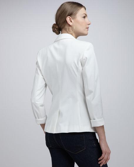 Cass Stretch-Cotton Blazer