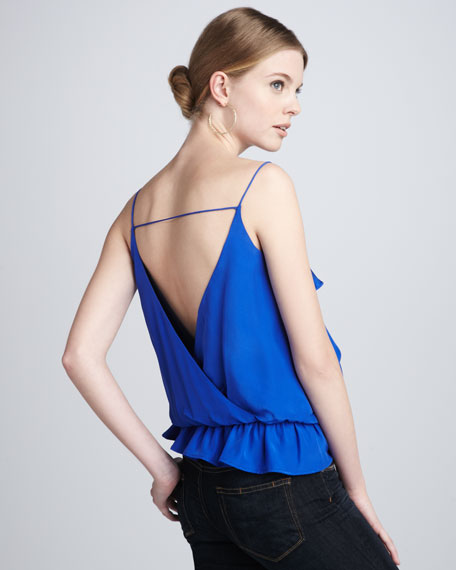 Drew Ruffled Silk Top