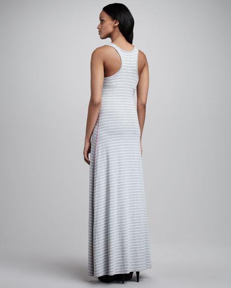 Striped Maxi Dress, Gray/White