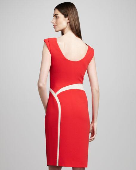 Crepe Inset Dress