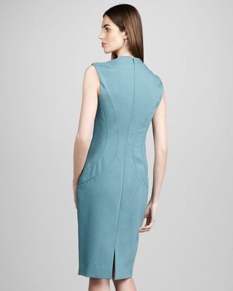 Ponte V-Neck Dress