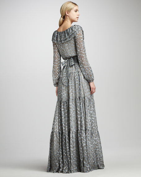 Beau Tiered Shirtwaist Gown