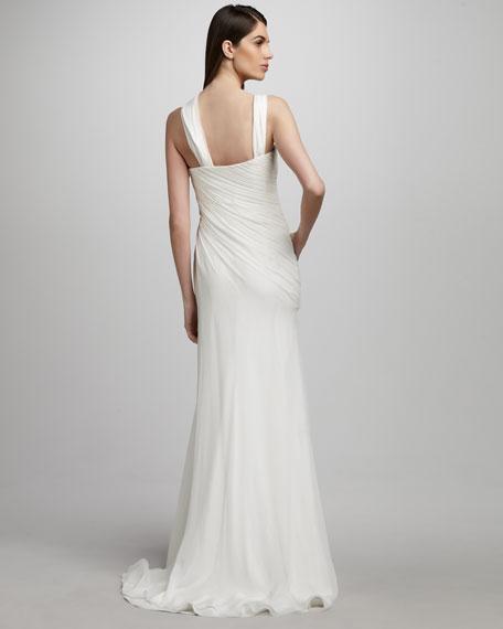 Asymmetric Chiffon Gown