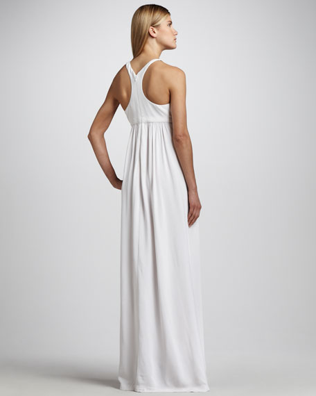 Bead-Neck Racerback Gown
