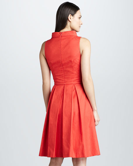 Roll-Neck Belted Dress