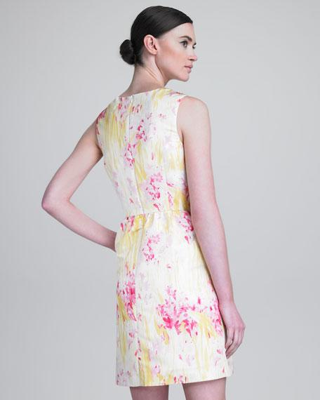 Faded Floral-Print Dress