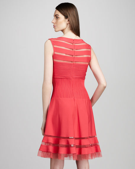 Sleeveless Illusion-Detail Dress