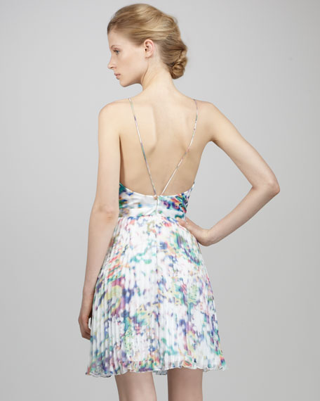 Halter Multi-Print Cocktail Dress