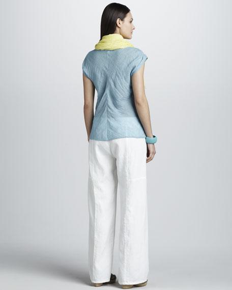 Wide-Leg Linen Pants, Women's