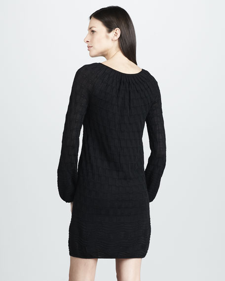 Patterned-Knit Relaxed Dress
