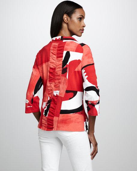 Graphic-Print Jacket