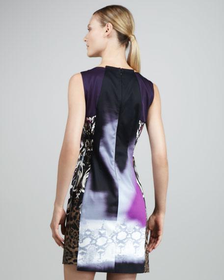 Rosalee Mixed-Print Dress
