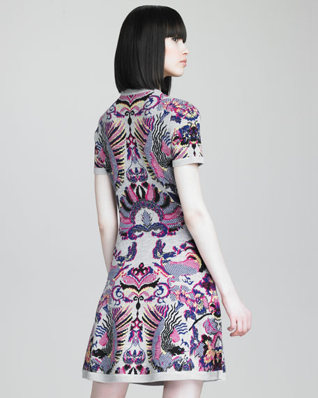 Griffin Printed Knit Dress