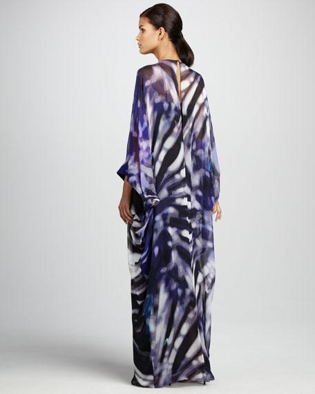 Bead-Waist Caftan Gown