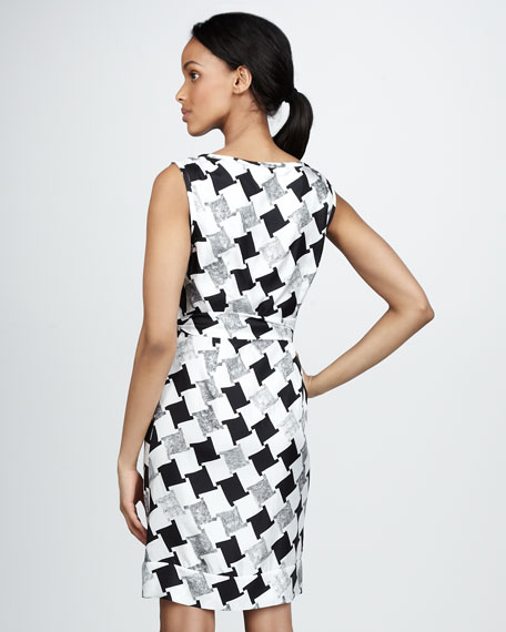 Della Printed Silk Dress