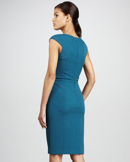 Cross-Neck Crepe Dress