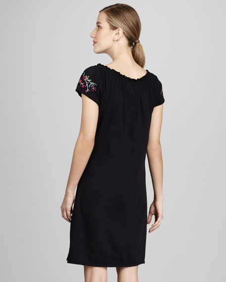 Emmy Short-Sleeve Poet Dress, Women's