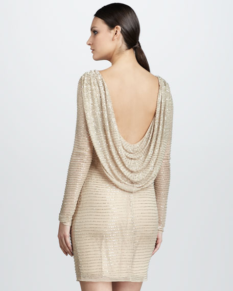 Cowl-Back Cocktail Dress