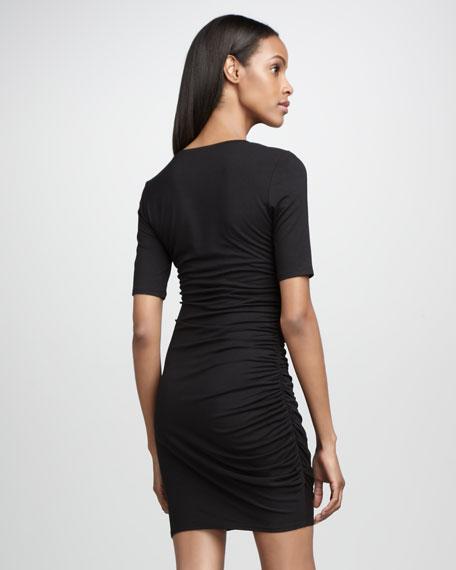 Half-Sleeve Jersey Dress