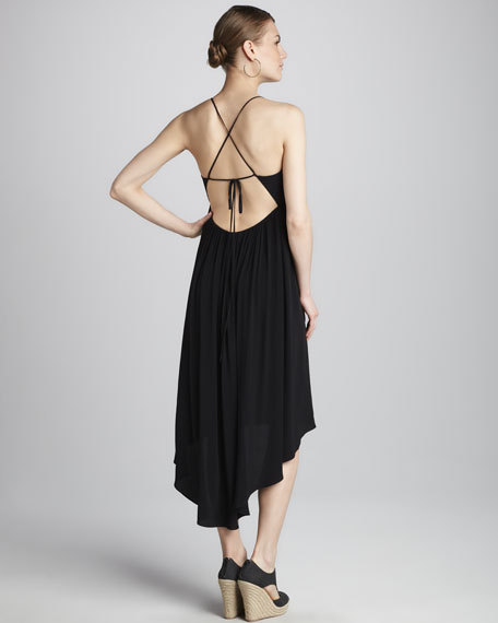 Open-Back Crepe Dress