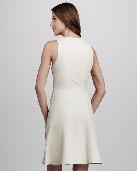 Leather A-Line Dress