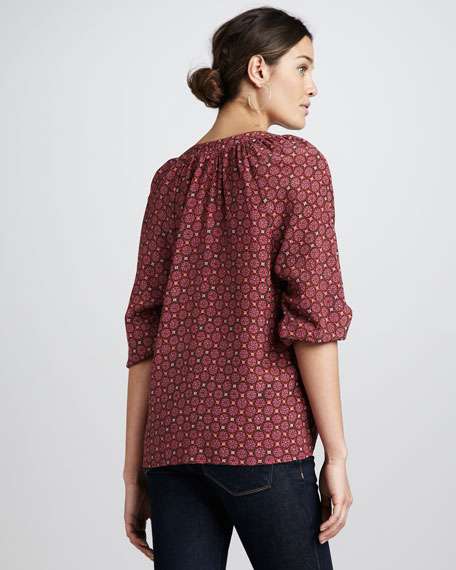 Addie Geometric-Print Top