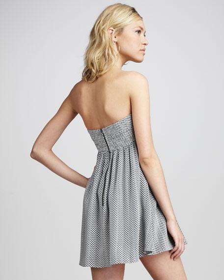 Strapless Zigzag Dress