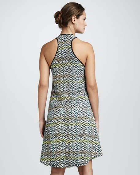 Avena Printed High-Low Dress