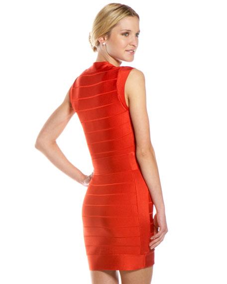 Spotlight Bandage Dress, Bright Red