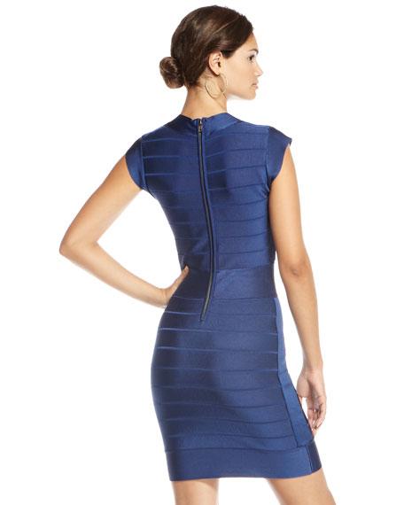 Spotlight Bandage Dress, Navy (CUSP Top Seller!)