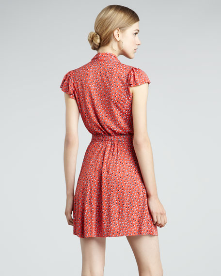 Calypso Printed Jersey Dress