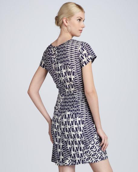 Printed Jersey Wrap Dress
