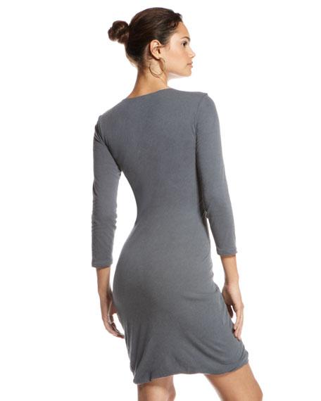 Mica Deep V-Neck Dress
