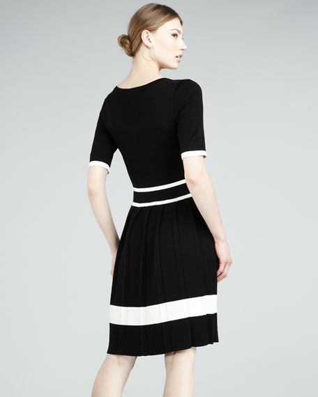 Sidney Pleated-Skirt Dress
