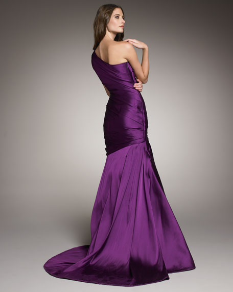 One-Shoulder Drape Gown