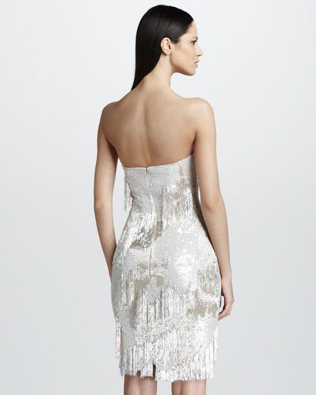 Beaded & Sequined Fringe Dress