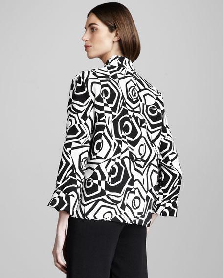 Optic Rose-Print Jacket