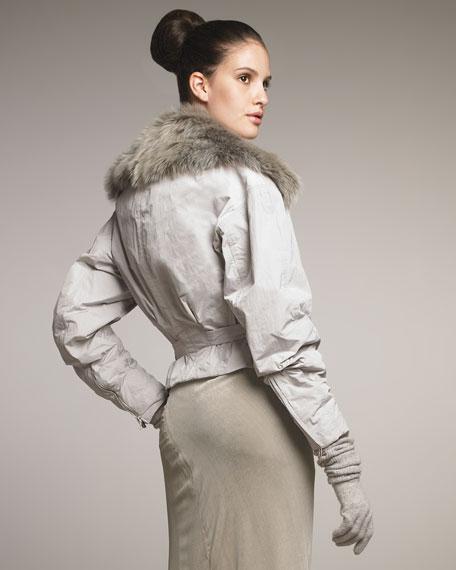 Detachable-Fur Parka