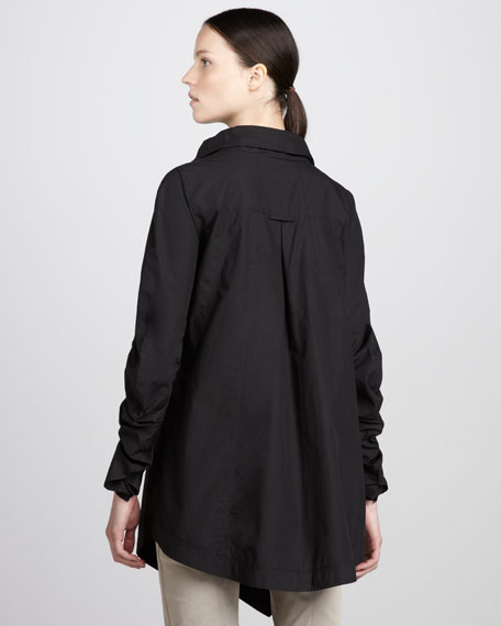Cowl-Neck Parachute Jacket
