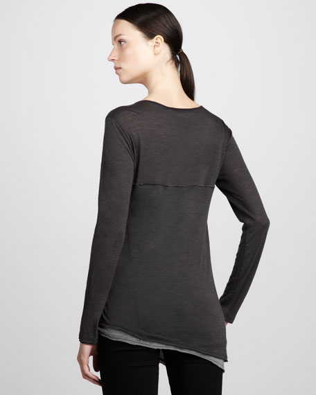 Double-Layer Jersey Tee