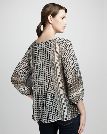Henry Printed Silk Blouse